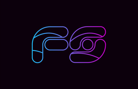 alphabet letter combination fs f s logo design blue and pink color suitable for a company or business