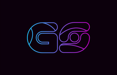 alphabet letter combination gs g s logo design blue and pink color suitable for a company or business