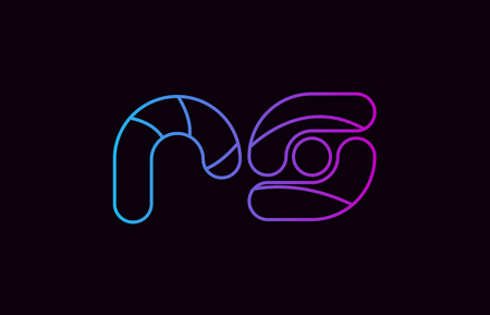alphabet letter combination rs r s logo design blue and pink color suitable for a company or business