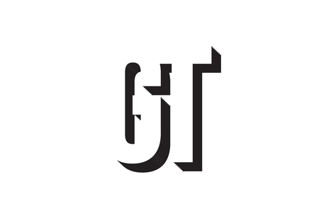 Black and white gt g t alphabet letter combination suitable as a logo for a company or business 일러스트