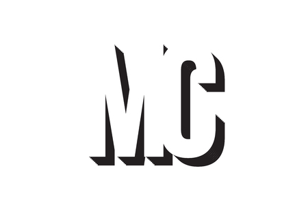 Black and white mc m c alphabet letter combination suitable as a logo for a company or business