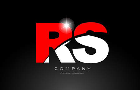 red white color alphabet letter combination rs r s logo icon design suitable for a company or business
