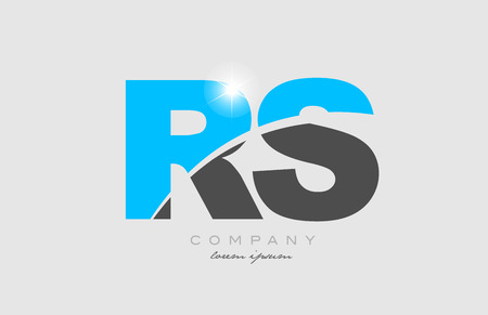 combination letter rs r s in grey blue color alphabet logo icon design suitable for a company or business Illustration