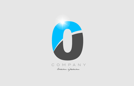 number 0 in grey blue color logo icon design suitable for a company or business