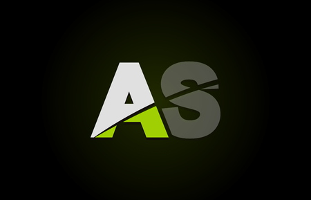 Design of alphabet letter logo combination as a s with green white and black color icon for a company or business