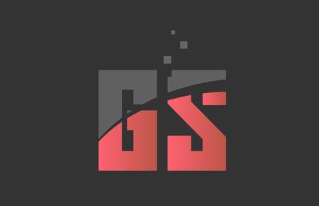orange grey alphabet letter GS G S logo combination design suitable for a company or business Illusztráció