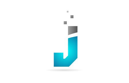 blue grey alphabet letter J logo design suitable for a company or business Logó