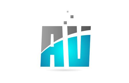 blue grey alphabet letter AV A V logo combination design suitable for a company or business Stock Vector - 119912344