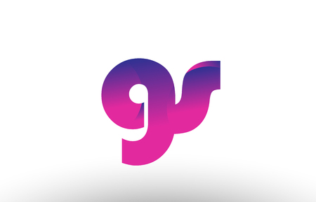 Design of alphabet letter logo combination gs g s with pink gradient color for a company or business Illusztráció