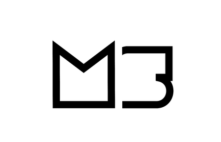 black and white alphabet letter logo combination ms m s design suitable for a company or business