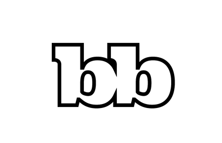 Connected or joined bb b b black alphabet letter combination suitable as a logo icon design for a company or business Ilustração