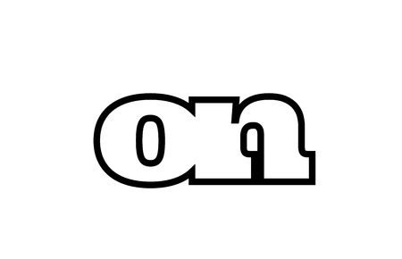 Connected or joined on o n black alphabet letter combination suitable as a logo icon design for a company or business