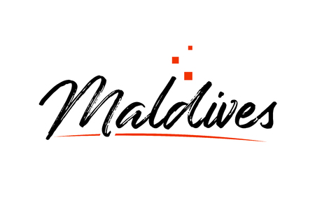 Maldives country typography word text suitable for logo icon design