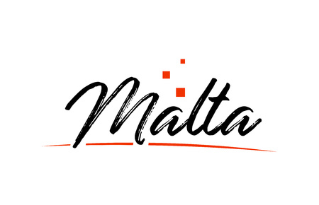 Malta country typography word text suitable for logo icon design  イラスト・ベクター素材