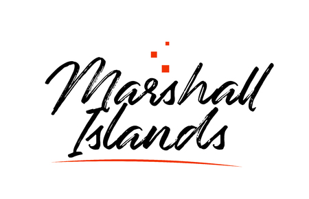 Marshall Islands country typography word text suitable for logo icon design