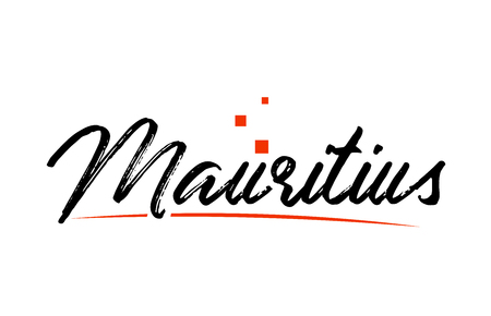 Mauritius country typography word text suitable for logo icon design