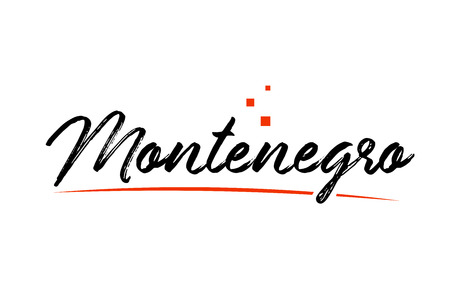 Montenegro country typography word text suitable for logo icon design