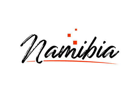 Namibia country typography word text suitable for logo icon design Stok Fotoğraf - 122248119