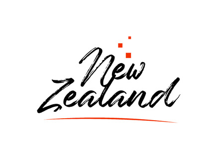 New Zealand country typography word text suitable for logo icon design Ilustração
