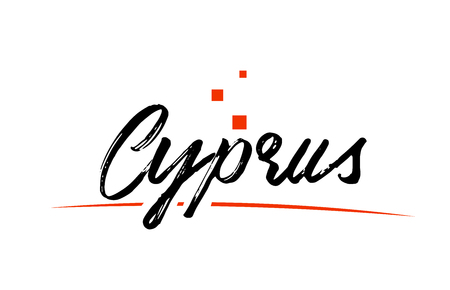Cyprus country typography word text suitable for logo icon design