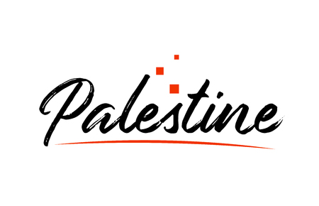 Palestine country typography word text suitable for logo icon design Illustration