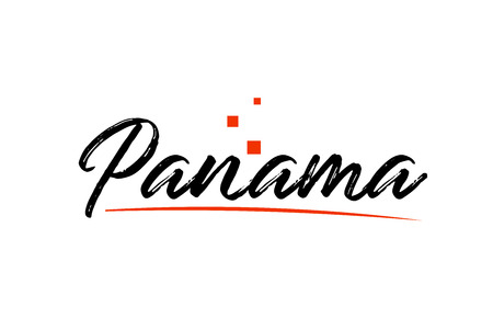 Panama country typography word text suitable for logo icon design