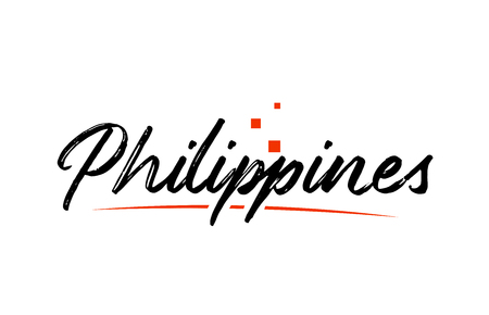 Philippines country typography word text suitable for logo icon design