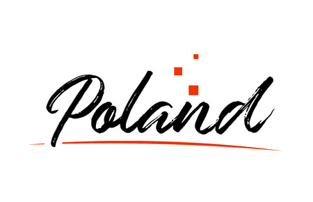 Poland country typography word text suitable for logo icon design