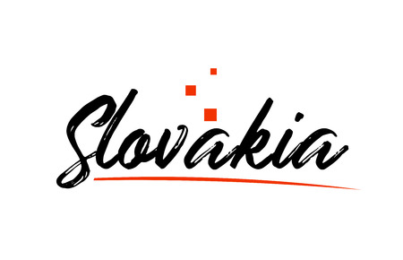 Slovakia country typography word text suitable for logo icon design