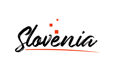 Slovenia country typography word text suitable for logo icon design