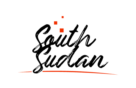 South Sudan country typography word text suitable for logo icon design
