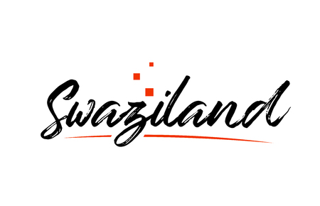 Swaziland country typography word text suitable for logo icon design