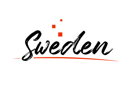 Sweden country typography word text suitable for logo icon design