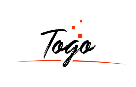 Togo country typography word text suitable for logo icon design Ilustrace