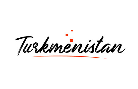 Turkmenistan country typography word text suitable for logo icon design