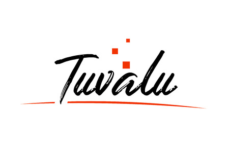 Tuvalu country typography word text suitable for logo icon design