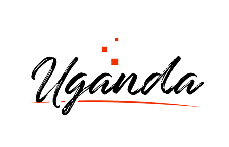 Uganda country typography word text suitable for logo icon design
