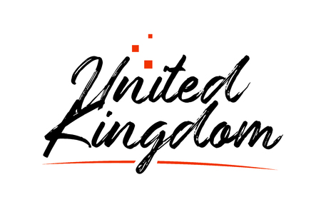 United Kingdom or UK country typography word text suitable for logo icon design