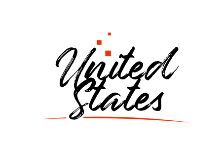 United States or USA  country typography word text suitable for logo icon design