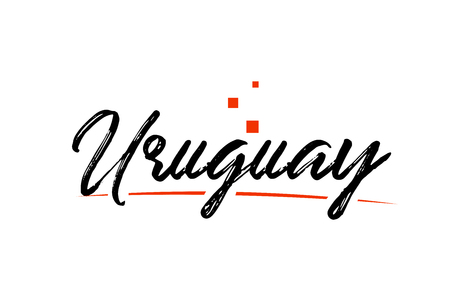 Uruguay country typography word text suitable for logo icon design Ilustrace