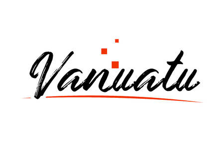 Vanuatu country typography word text suitable for logo icon design