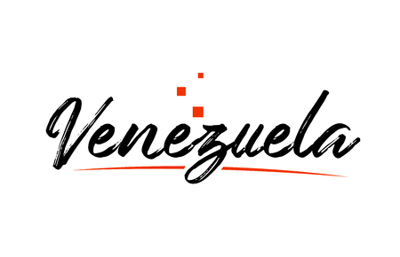 Venezuela country typography word text suitable for logo icon design Ilustrace