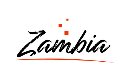 Zambia country typography word text suitable for logo icon design Ilustrace