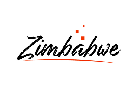 Zimbabwe country typography word text suitable for logo icon design Ilustrace
