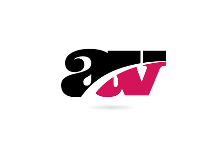 av a v pink and black alphabet letter combination suitable as a logo icon design for a company or business