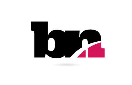 bn b n pink and black alphabet letter combination suitable as a logo icon design for a company or business