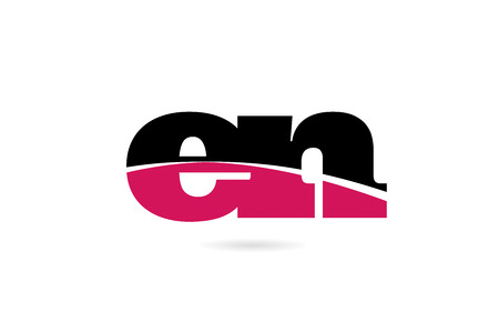 en e n pink and black alphabet letter combination suitable as a logo icon design for a company or business