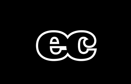 Connected or joined ec e c black alphabet letter combination suitable as a logo icon design for a company or business