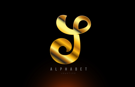 Gold golden letter S logo design with metal look suitable for a company or business Illustration