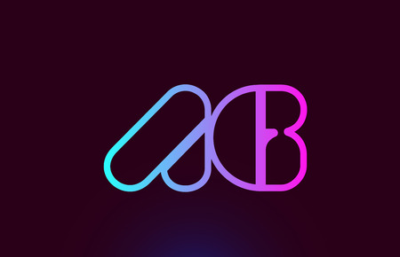 AG A G pink line joined alphabet letter combination suitable as a logo icon design for a company or business